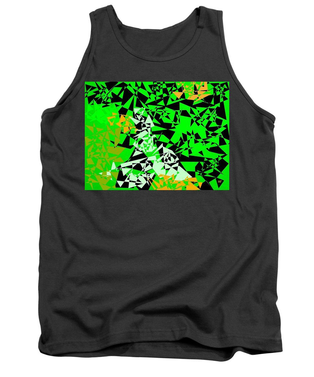 Abstract Tank Top featuring the digital art Harmony 5 by Will Borden