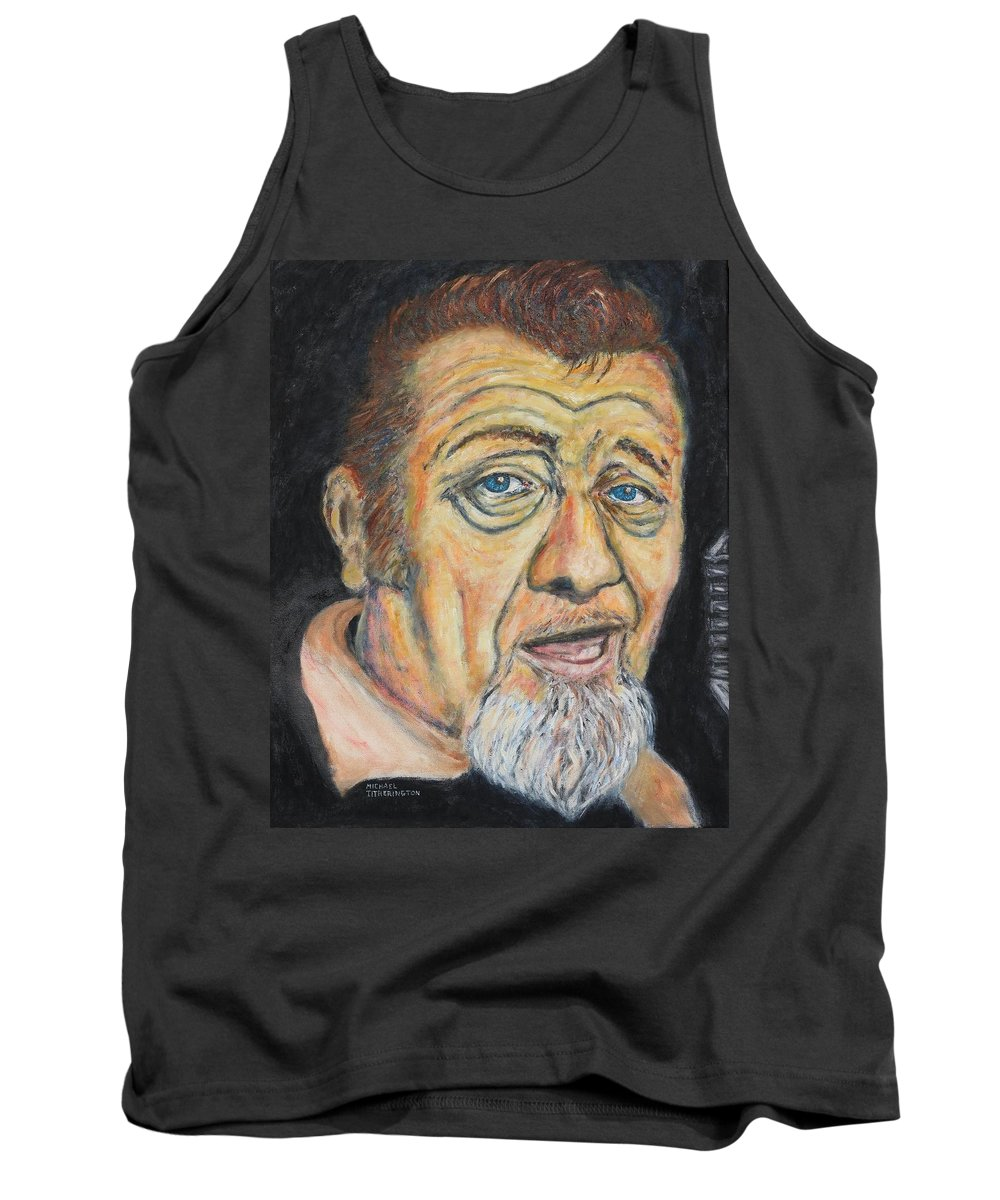 Blues Musician Tank Top featuring the painting Harpdog Brown by Michael Titherington