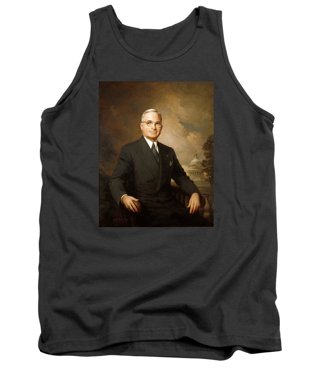 Painting Tank Top featuring the painting Harry Truman by Mountain Dreams