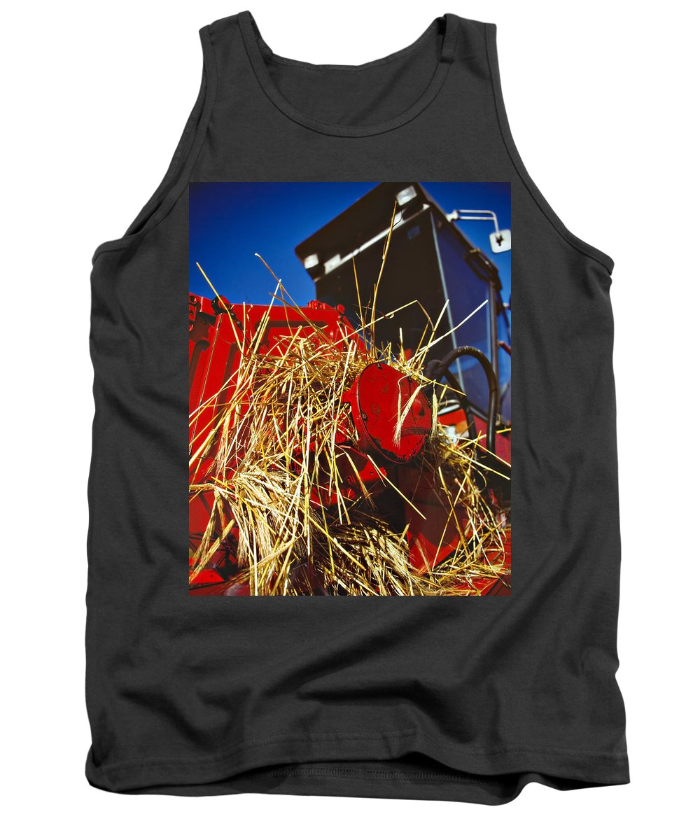 Combine Tank Top featuring the photograph Harvesting by Meirion Matthias