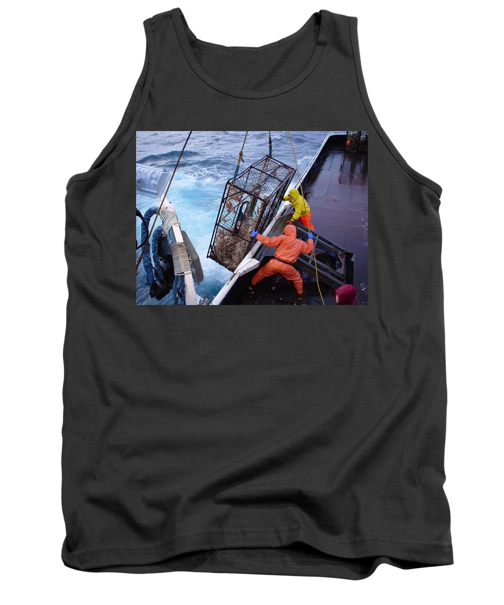Bering Sea Tank Top featuring the photograph Hauling Gear by Dean Gribble