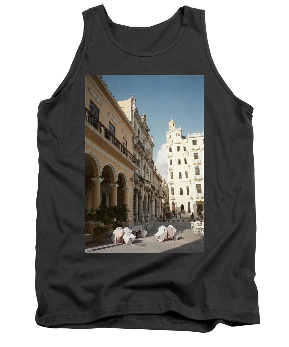 Photo Tank Top featuring the photograph Havana Vieja by Quin Sweetman
