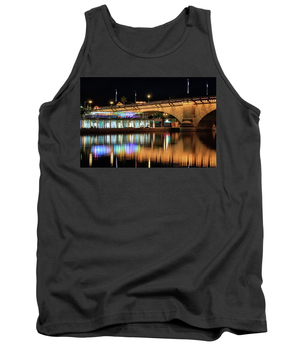 London Bridge Tank Top featuring the photograph Havasu At Night by James Eddy