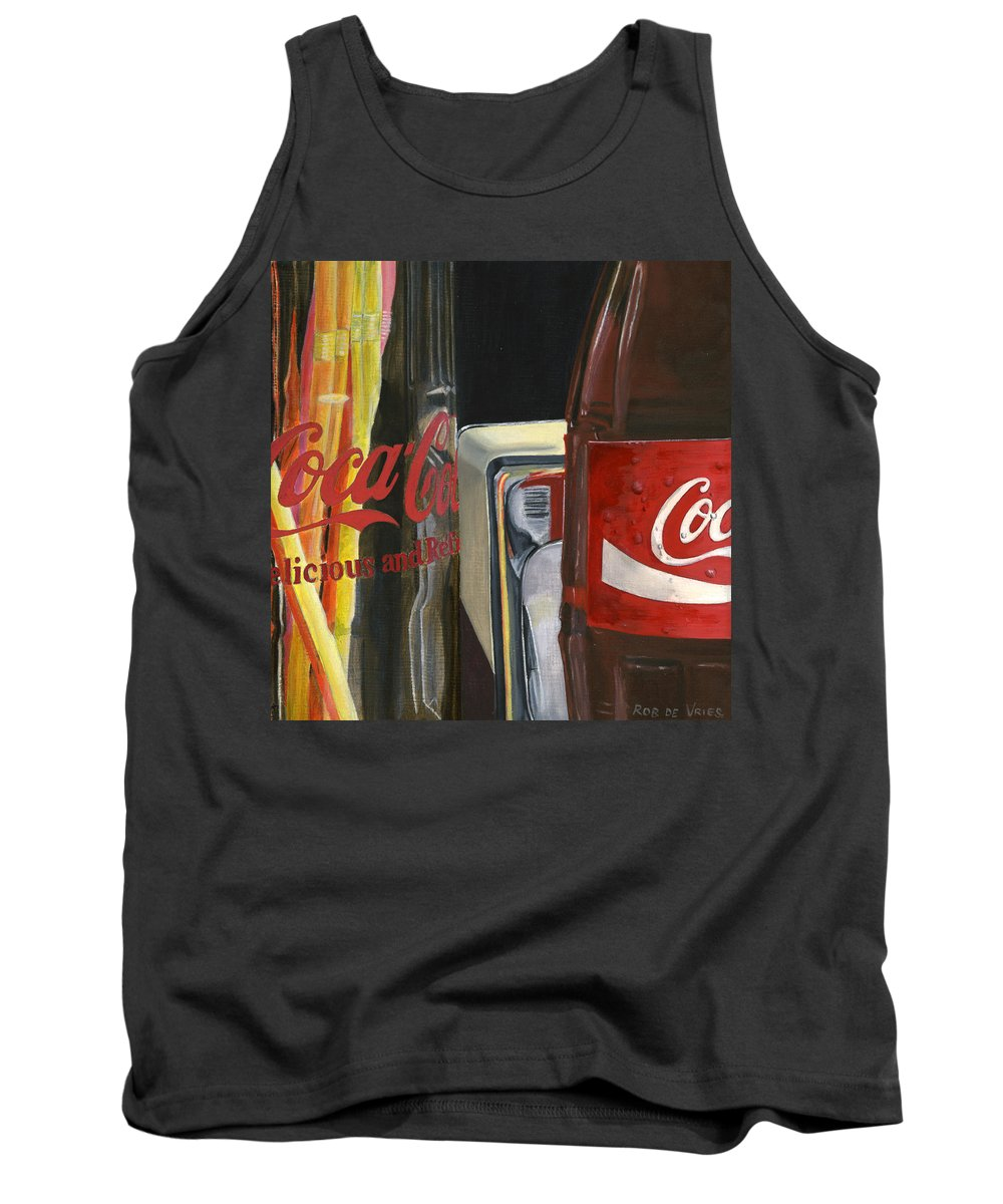 Coca Tank Top featuring the painting Have A Coke... by Rob De Vries