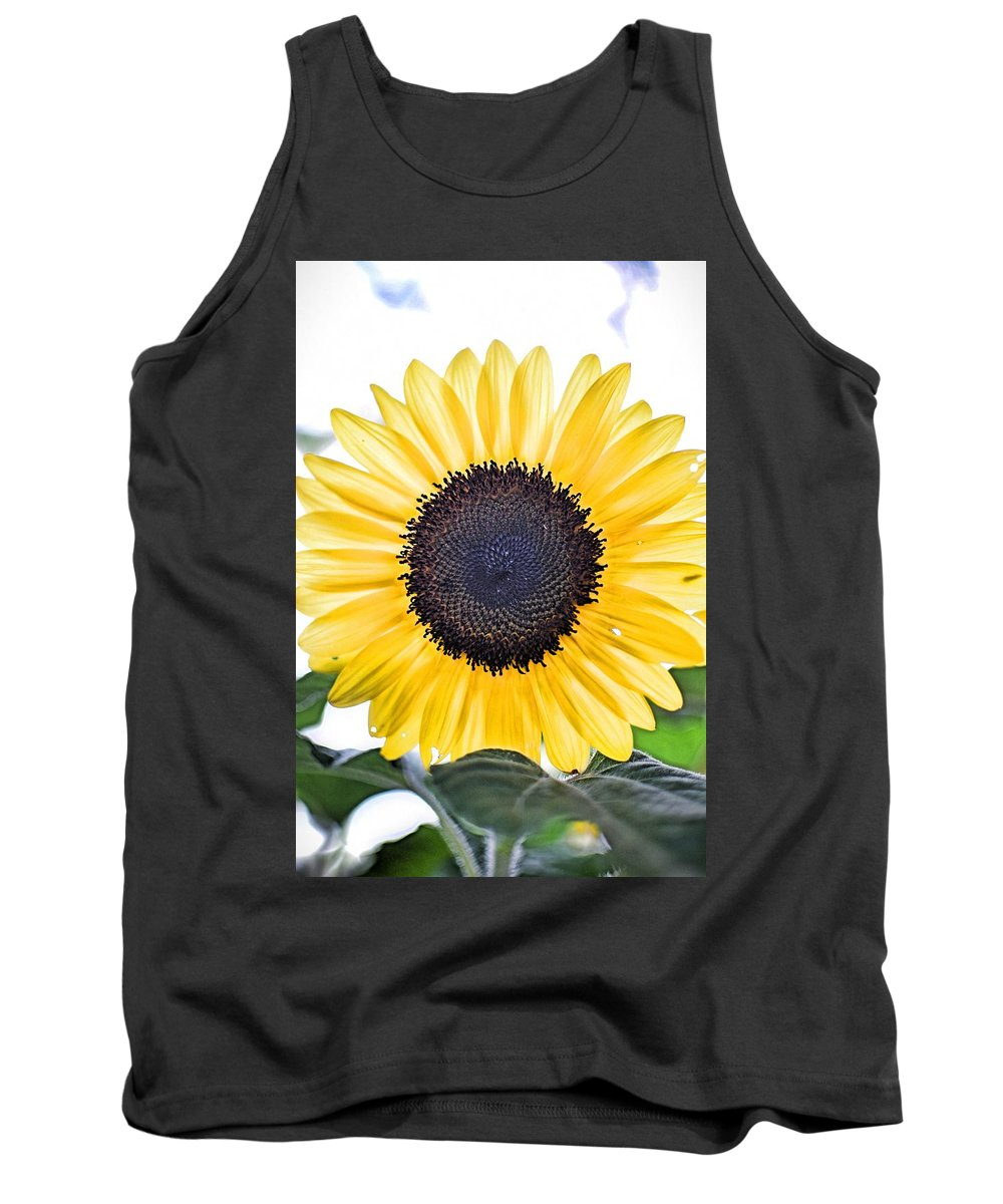 #sunflower Tank Top featuring the photograph Hdr Sunflower by Christie Wilson