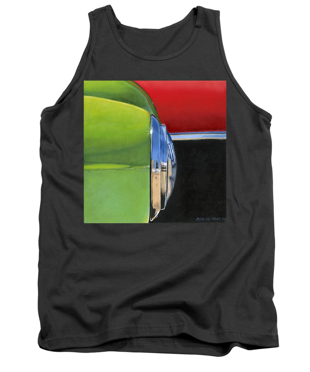 Car Tank Top featuring the painting Headlight by Rob De Vries