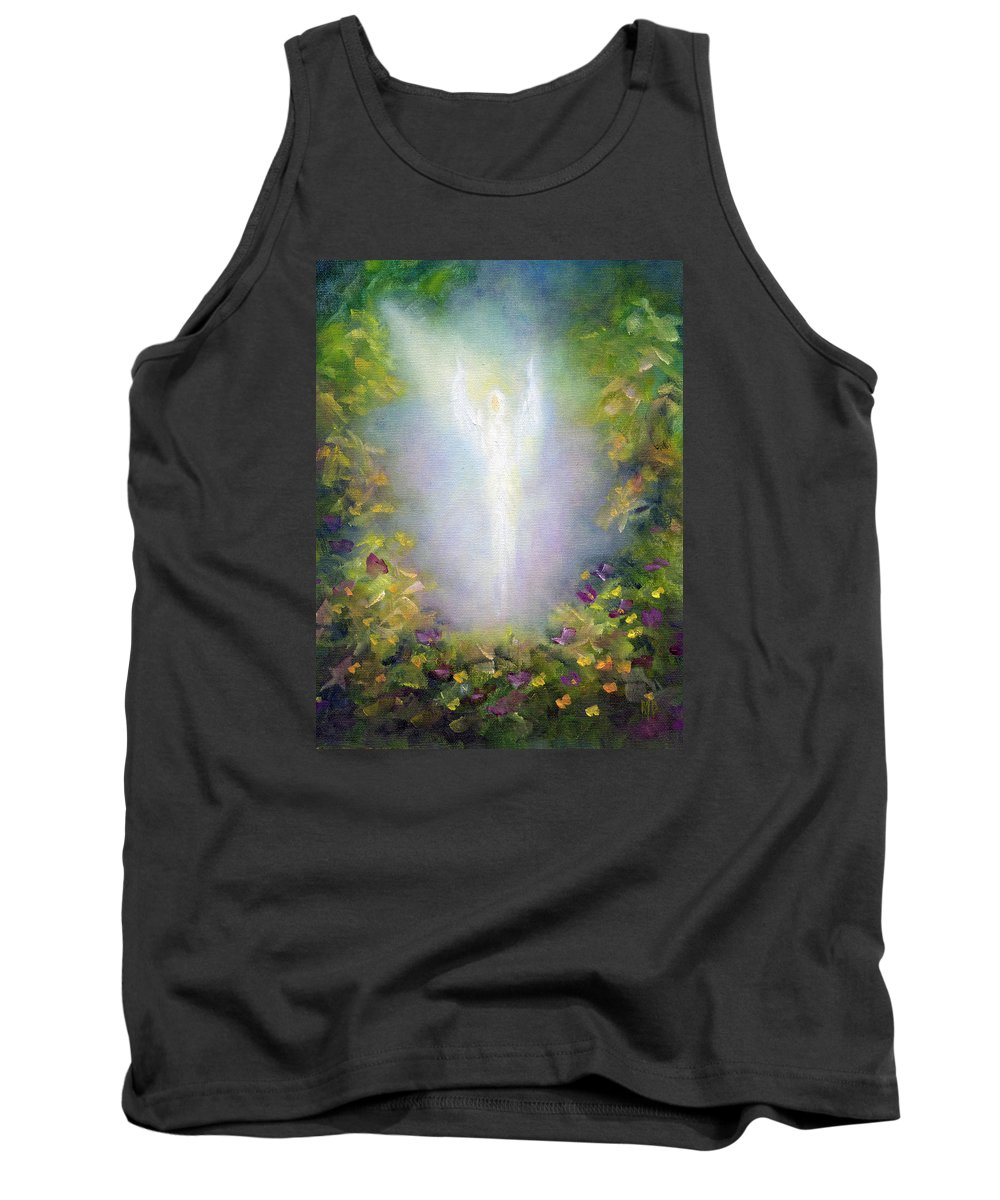 Angel Tank Top featuring the painting Healing Angel by Marina Petro