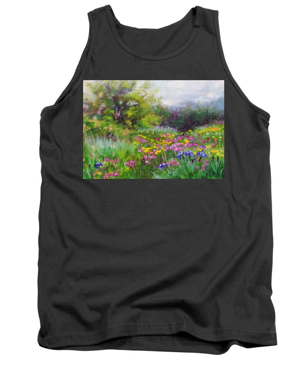 Flower Tank Top featuring the painting Heaven Can Wait by Talya Johnson