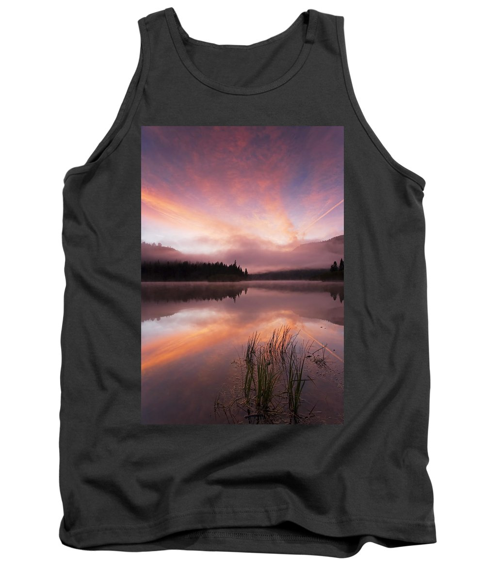 Sunrise Tank Top featuring the photograph Heavenly Skies by Mike Dawson