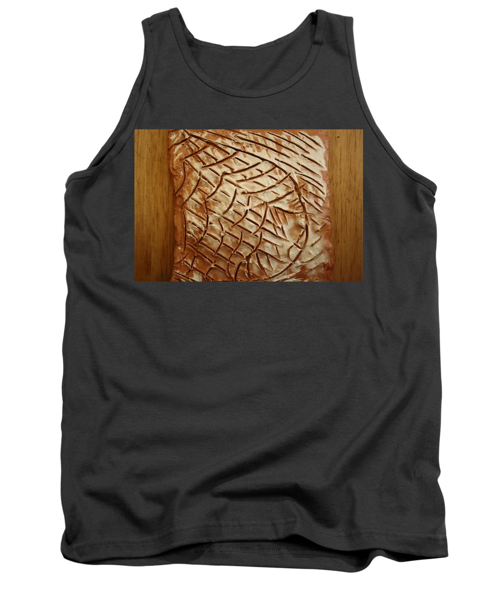Jesus Tank Top featuring the ceramic art Heavenly Thoughts - Tile by Gloria Ssali