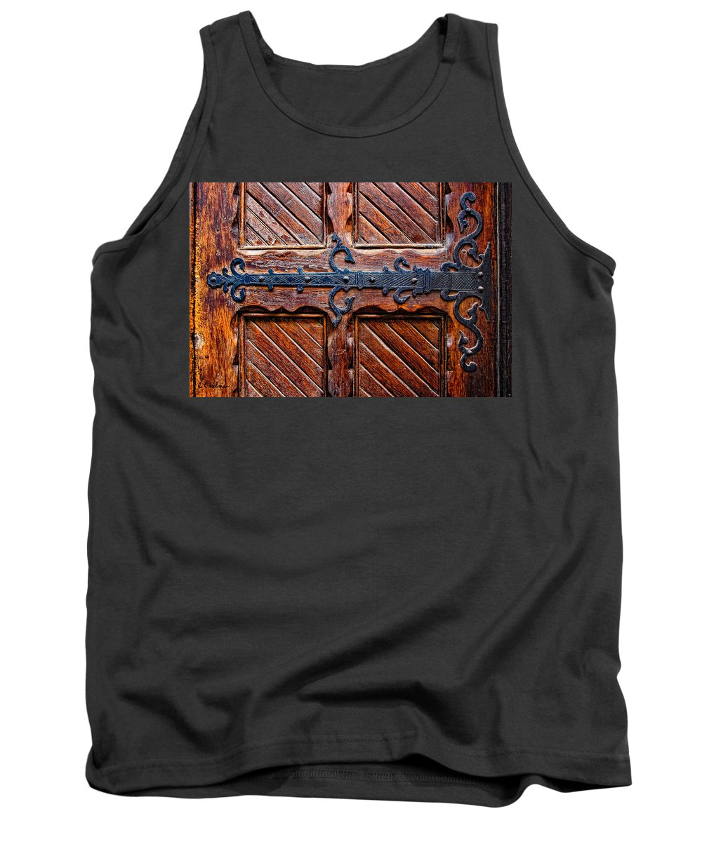 Door Tank Top featuring the photograph Heavy Duty by Christopher Holmes