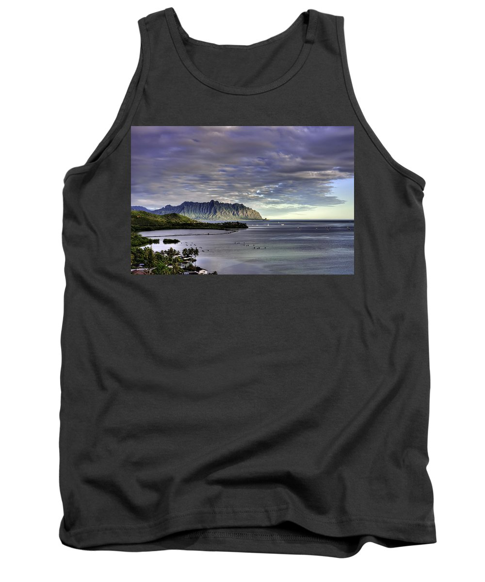 Hawaii Tank Top featuring the photograph He'eia And Kualoa 2nd Crop by Dan McManus