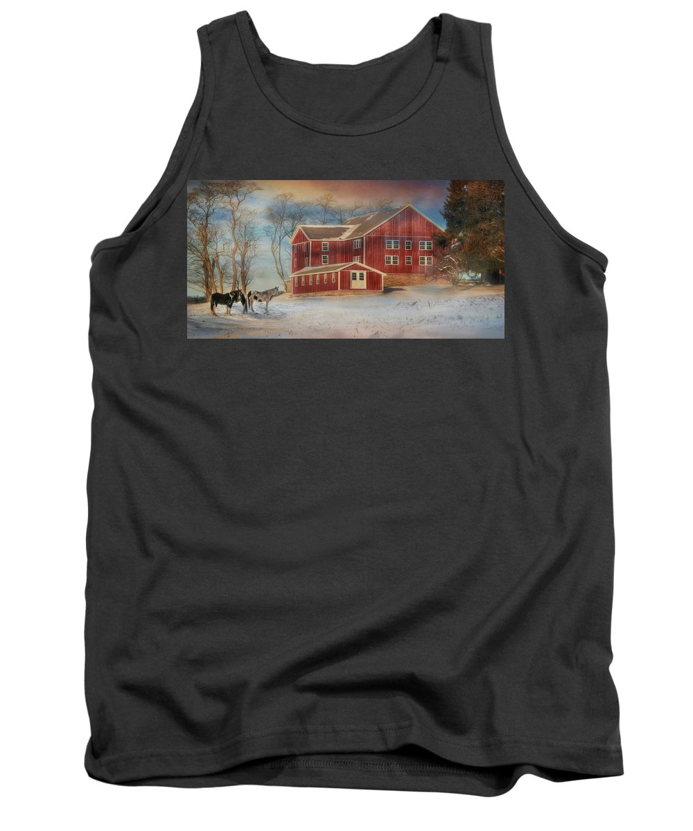 Barn Tank Top featuring the photograph Hegins Valley by Lori Deiter