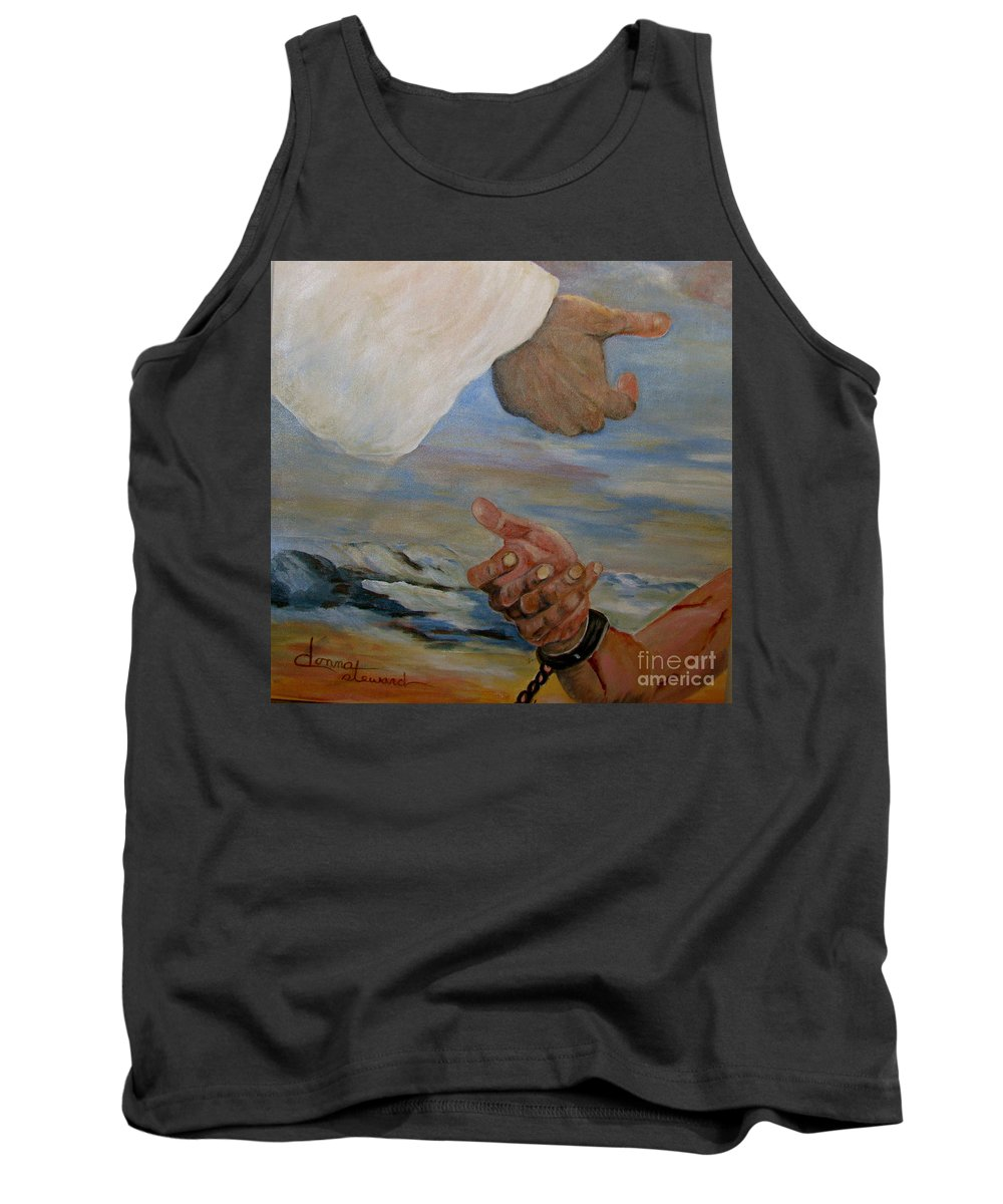 Religious Tank Top featuring the painting Help Me by Donna Steward