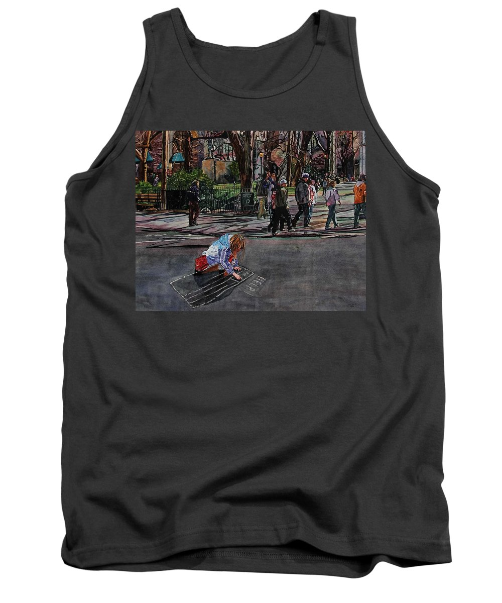 Political Tank Top featuring the painting Help by Valerie Patterson