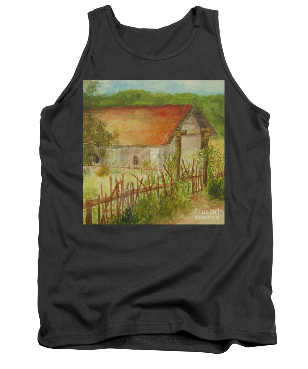 Garden Tank Top featuring the painting Herb Garden by Vicki Housel