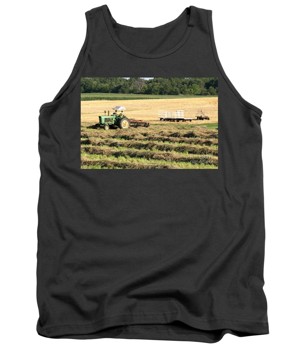 Agriculture Tank Top featuring the photograph Hey Hay by Alan Look