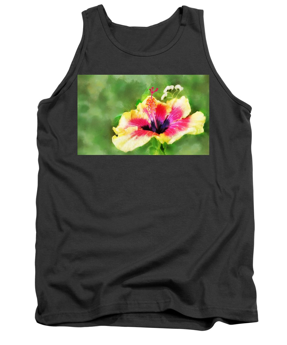 Hibiscus Tank Top featuring the digital art Hibiscus by Francesa Miller
