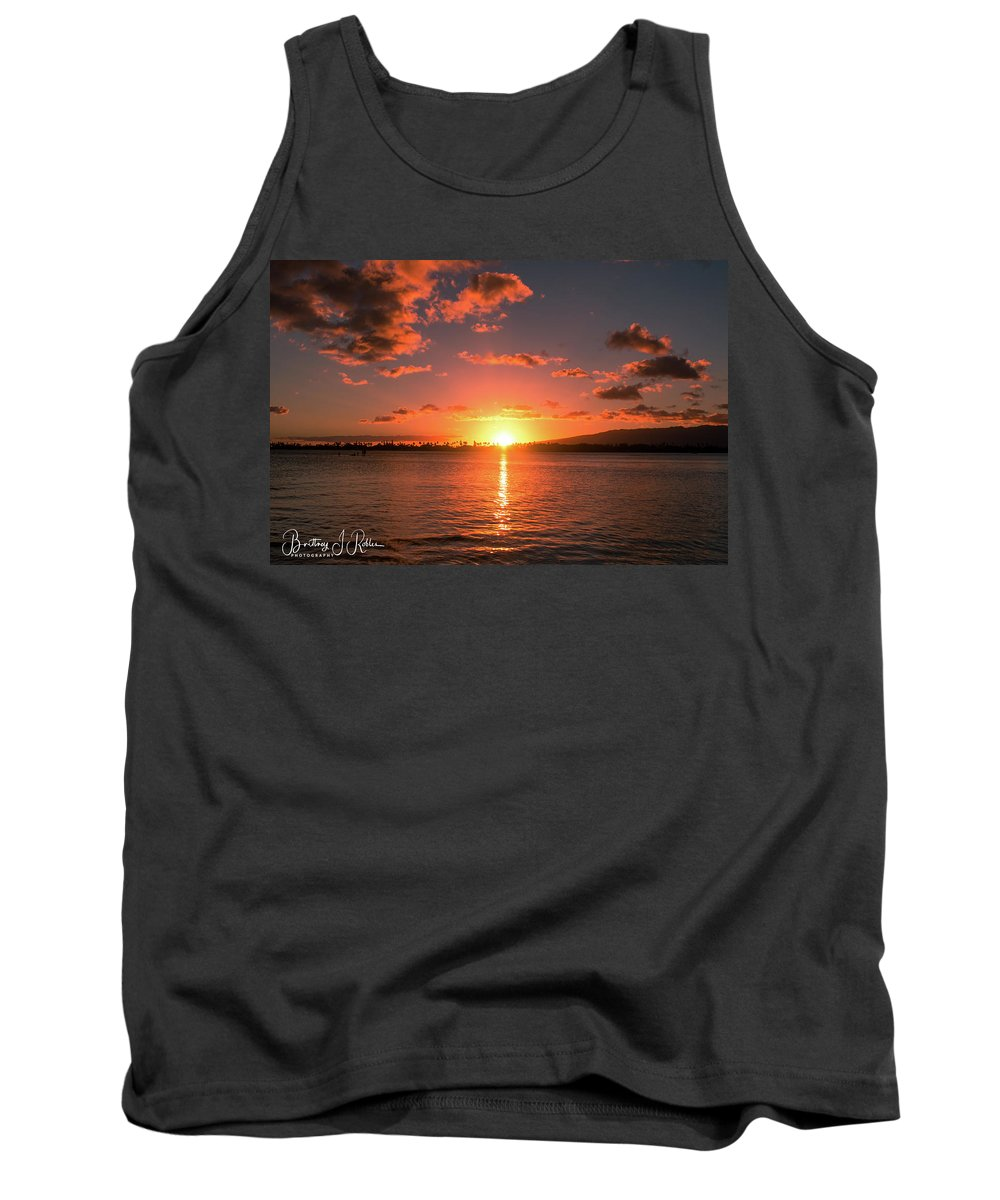 Tank Top featuring the photograph Hickam Sunset by Brittney Robles