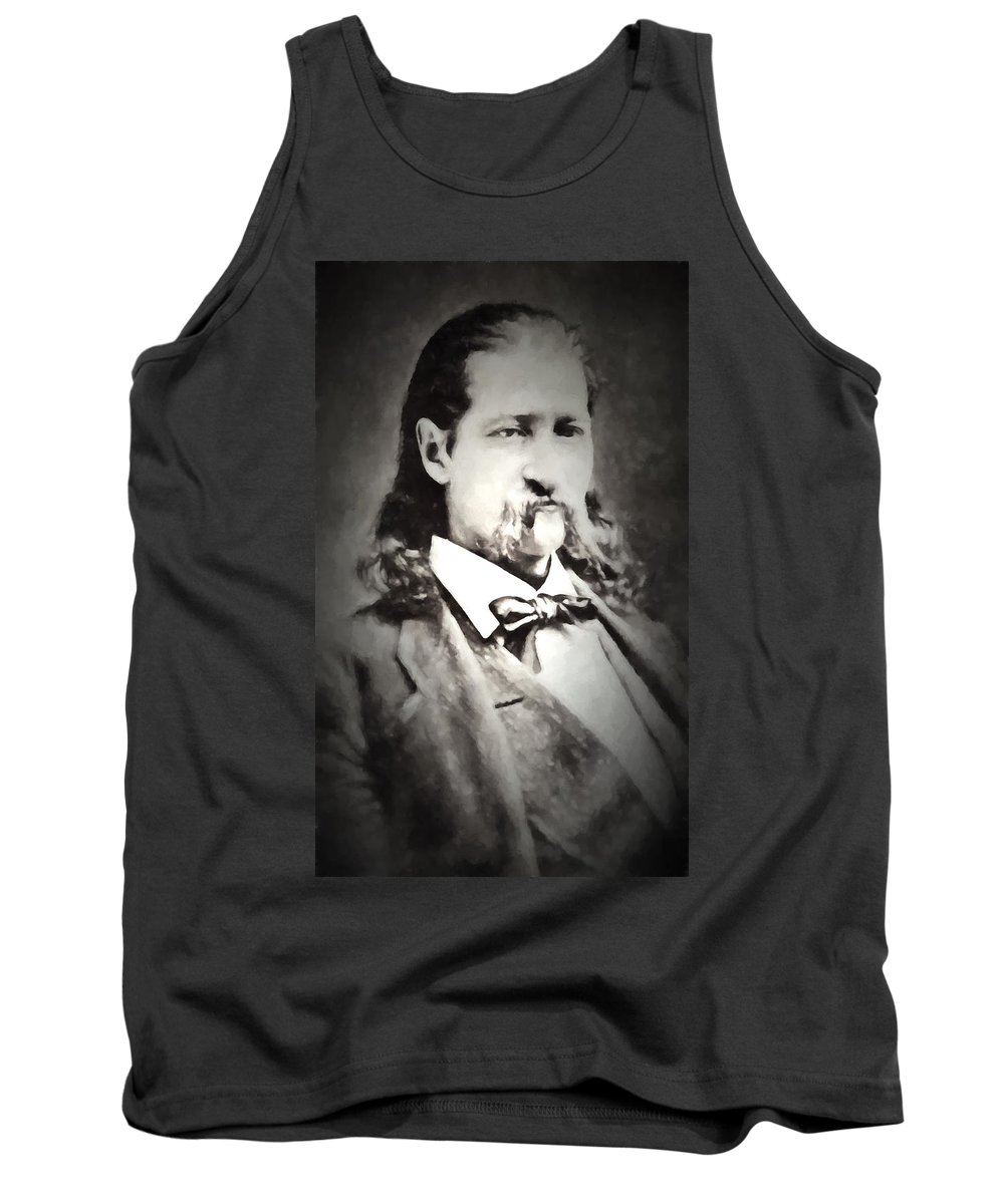 Hickok. Hickock Tank Top featuring the digital art Hickok Painterly 2 by Daniel Hagerman