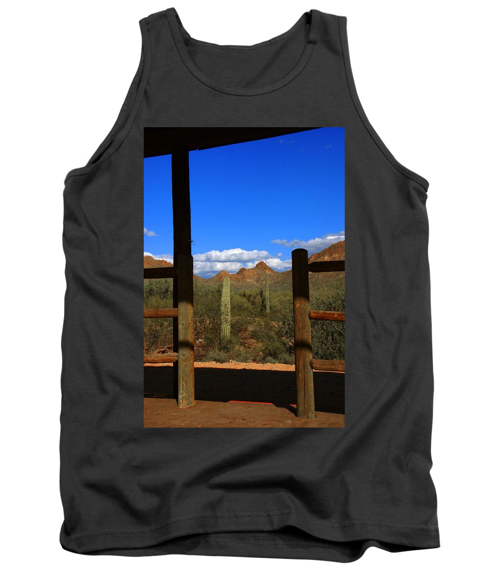High Chaparral Tank Top featuring the photograph High Chaparral - Mountain View by Susanne Van Hulst