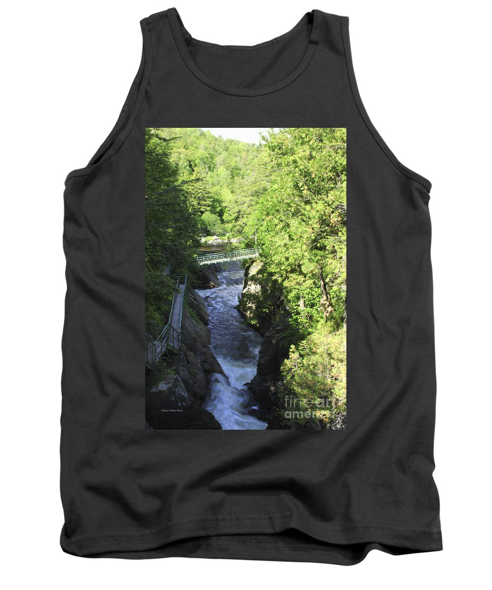 Newyork Tank Top featuring the photograph High Falls Gorge by Deborah Benoit