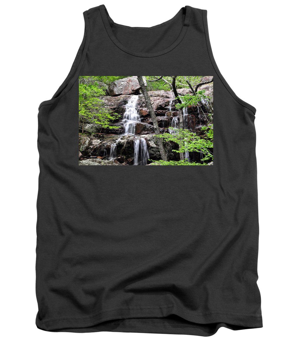 Waterfall Tank Top featuring the photograph Highway E Falls 9 by Marty Koch