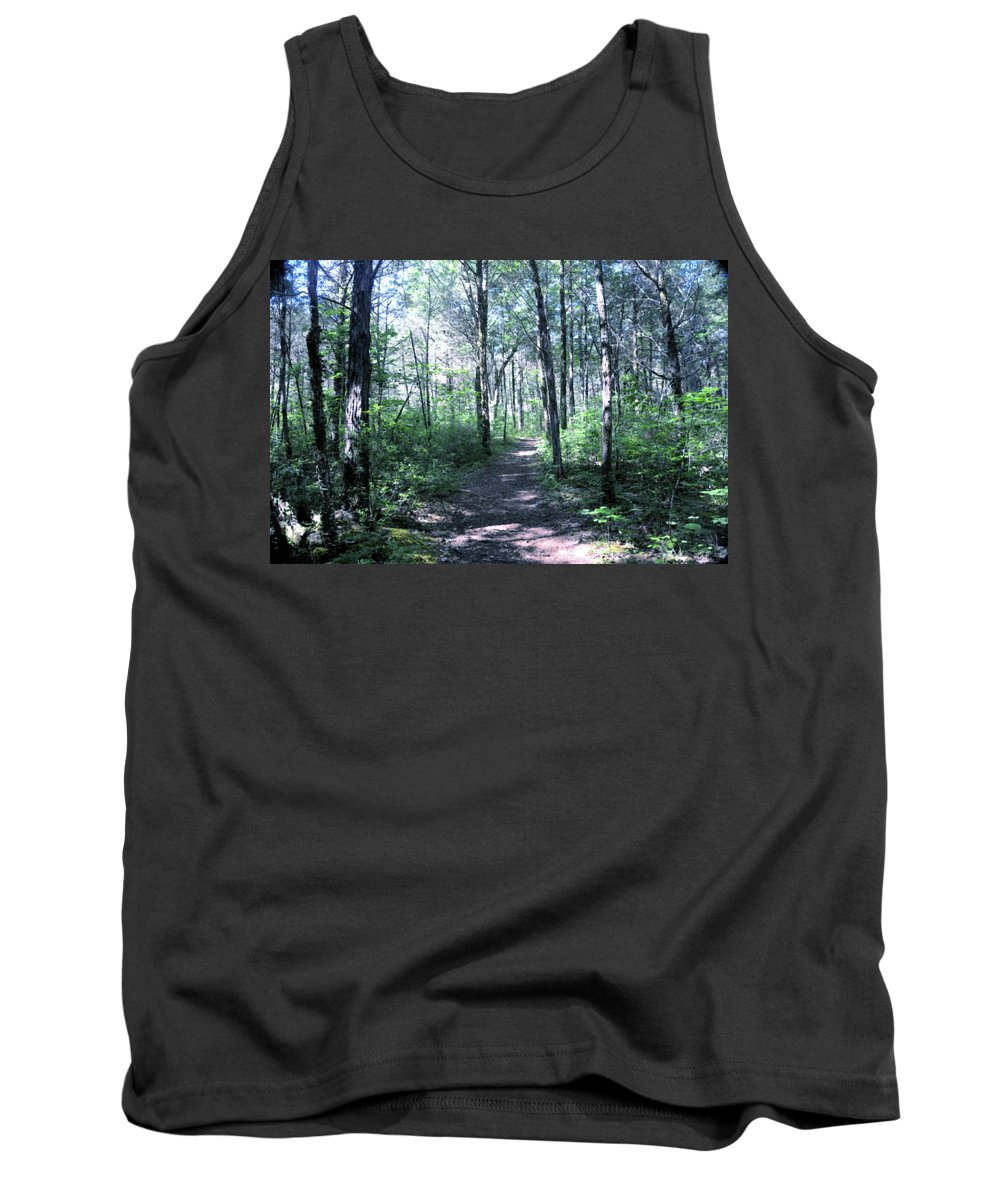Cedars Of Lebanon Tank Top featuring the photograph Hike In The Park by Angela Ford