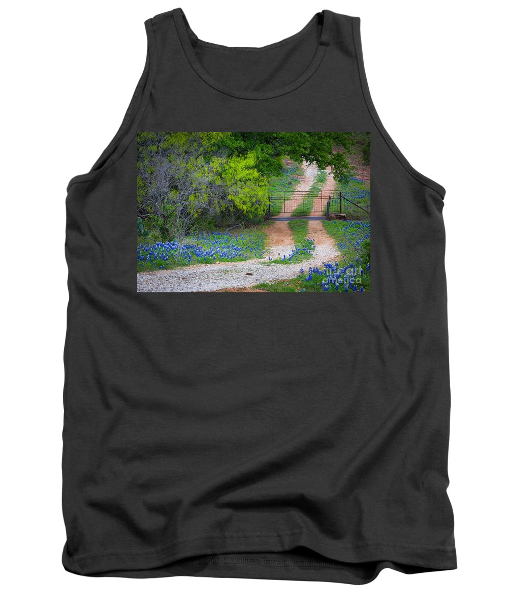 America Tank Top featuring the photograph Hill Country Road by Inge Johnsson