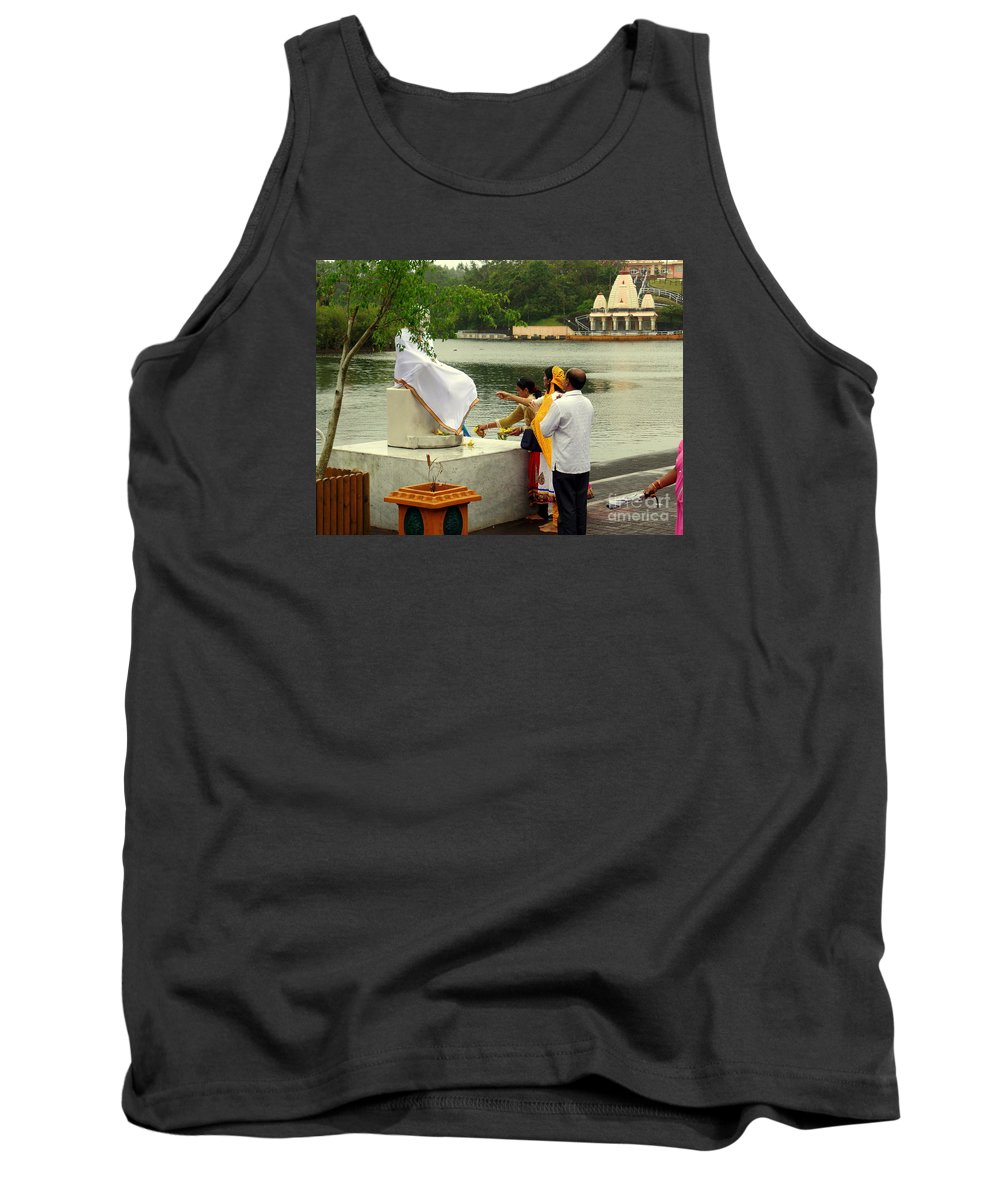Religion Tank Top featuring the photograph Hindu Offering by John Potts