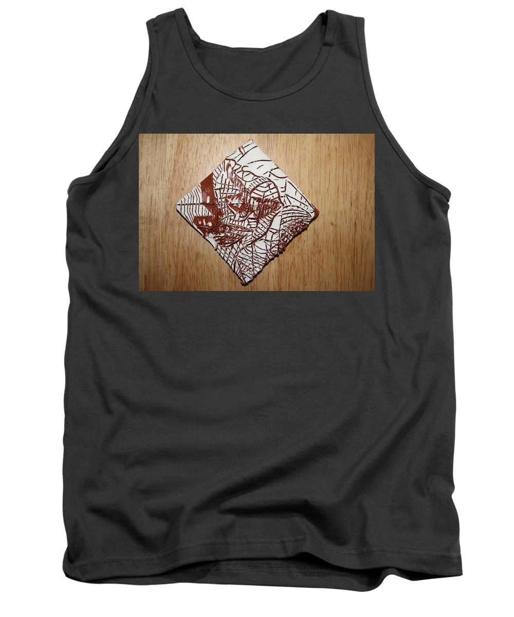 Jesus Tank Top featuring the ceramic art Hints Of Life - Tile by Gloria Ssali