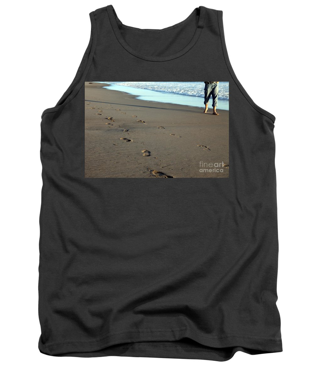 Sand Tank Top featuring the photograph His Path by Amanda Barcon