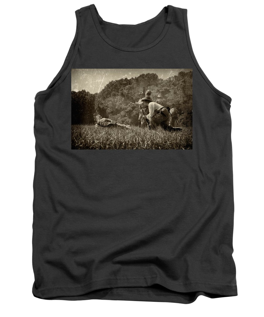 Civil Tank Top featuring the photograph Holding The Line by Scott Wyatt