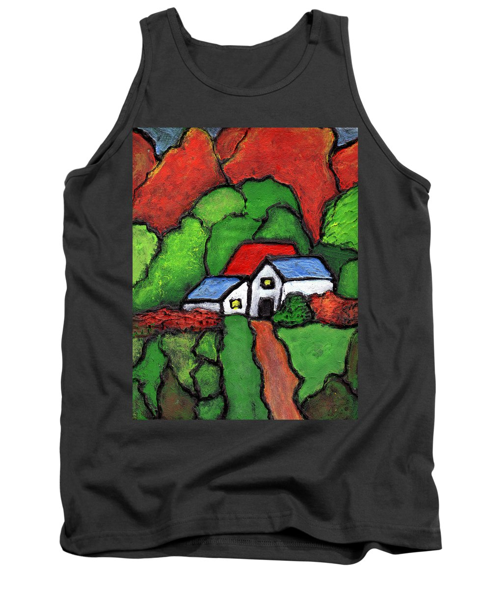 Rural Tank Top featuring the painting Home In The Country by Wayne Potrafka