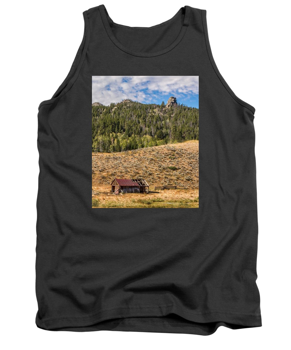 Shack Tank Top featuring the photograph Homestead by Jayme Spoolstra