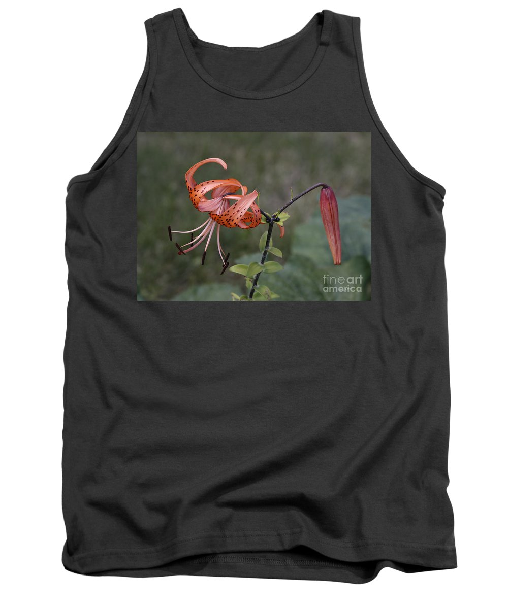 Flower Tank Top featuring the photograph Homestead Tiger Lilly by Deborah Benoit