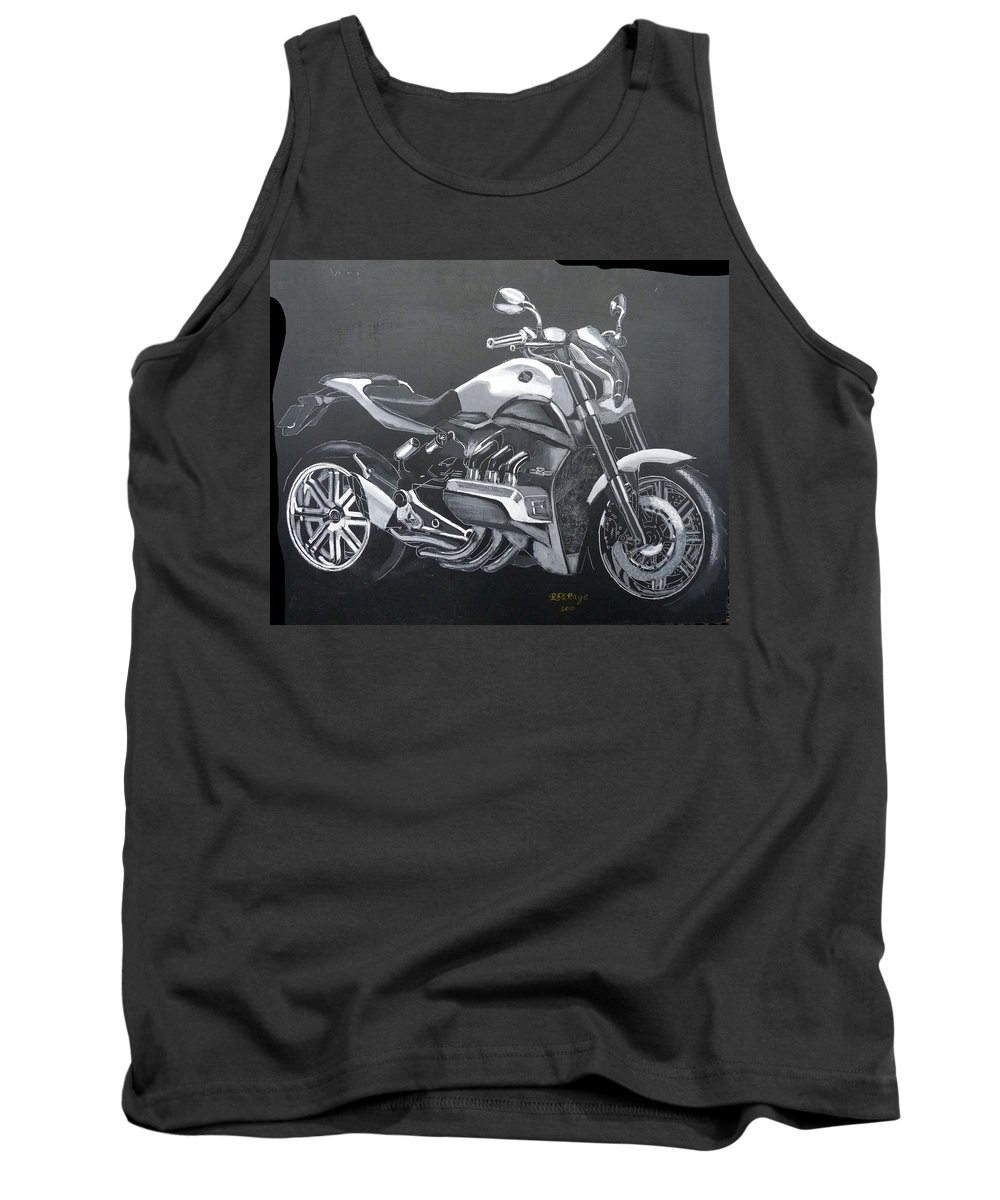 Honda Tank Top featuring the painting Honda Concept Evo 6 by Richard Le Page