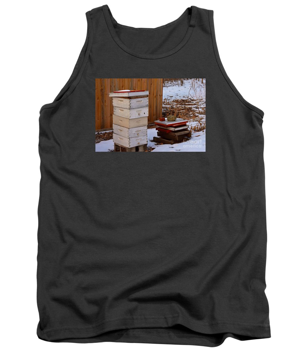Winter Tank Top featuring the photograph Hony Hibernation by Maxwell Silver
