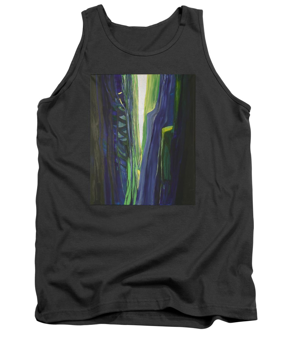 Landscape Tank Top featuring the painting Hope. by Jarle Rosseland