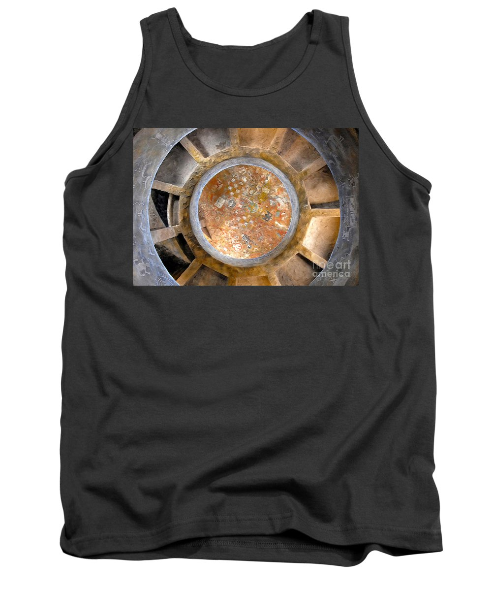 Hopi Indians Tank Top featuring the photograph Hopi Spirit Circle by David Lee Thompson