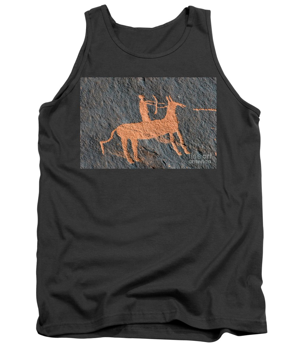 Bow And Arrow Tank Top featuring the photograph Horse And Arrow by David Lee Thompson