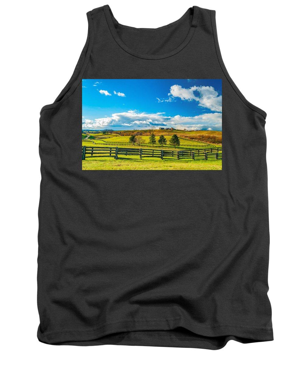Farm Tank Top featuring the photograph Horse Farm 6 by Steve Harrington