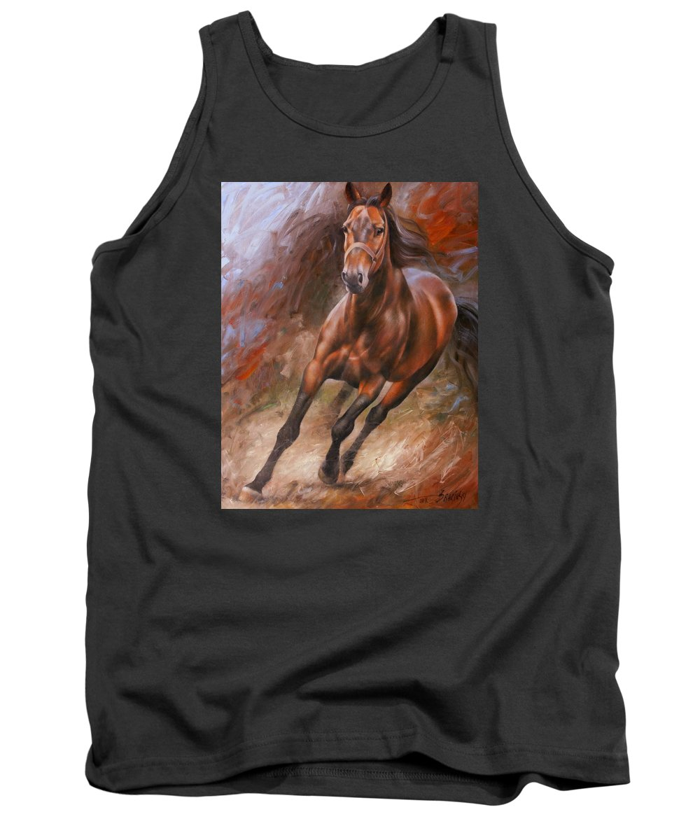 Art Tank Top featuring the painting Horse2 by Arthur Braginsky