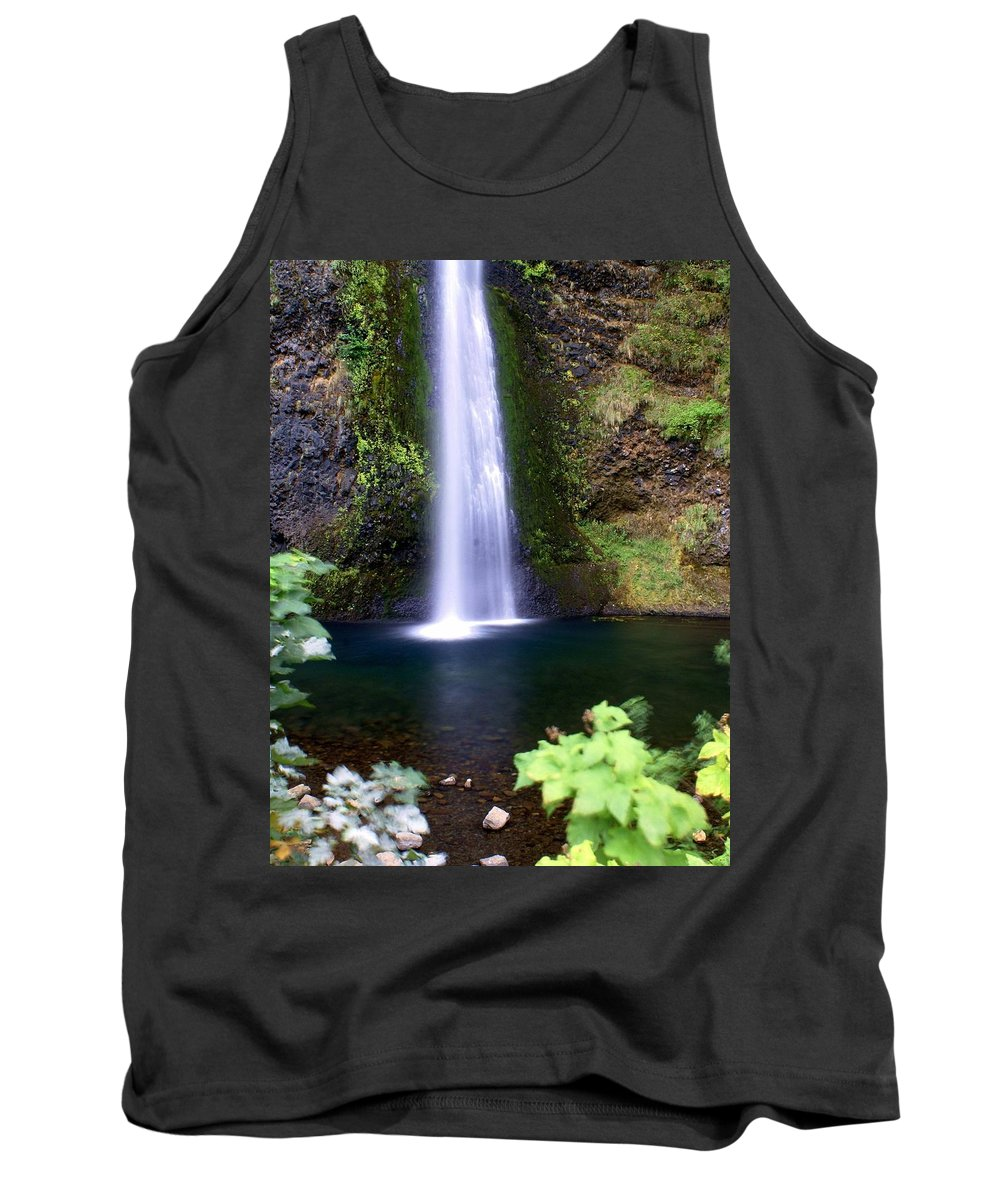 Waterfalls Tank Top featuring the photograph Horsetail Falls by Marty Koch