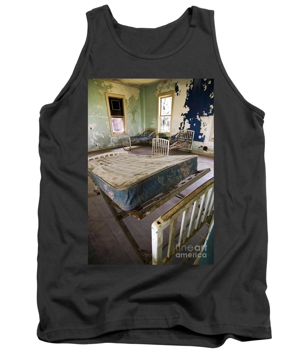 California History Tank Top featuring the photograph Hospital Bed Preston Castle by Norman Andrus