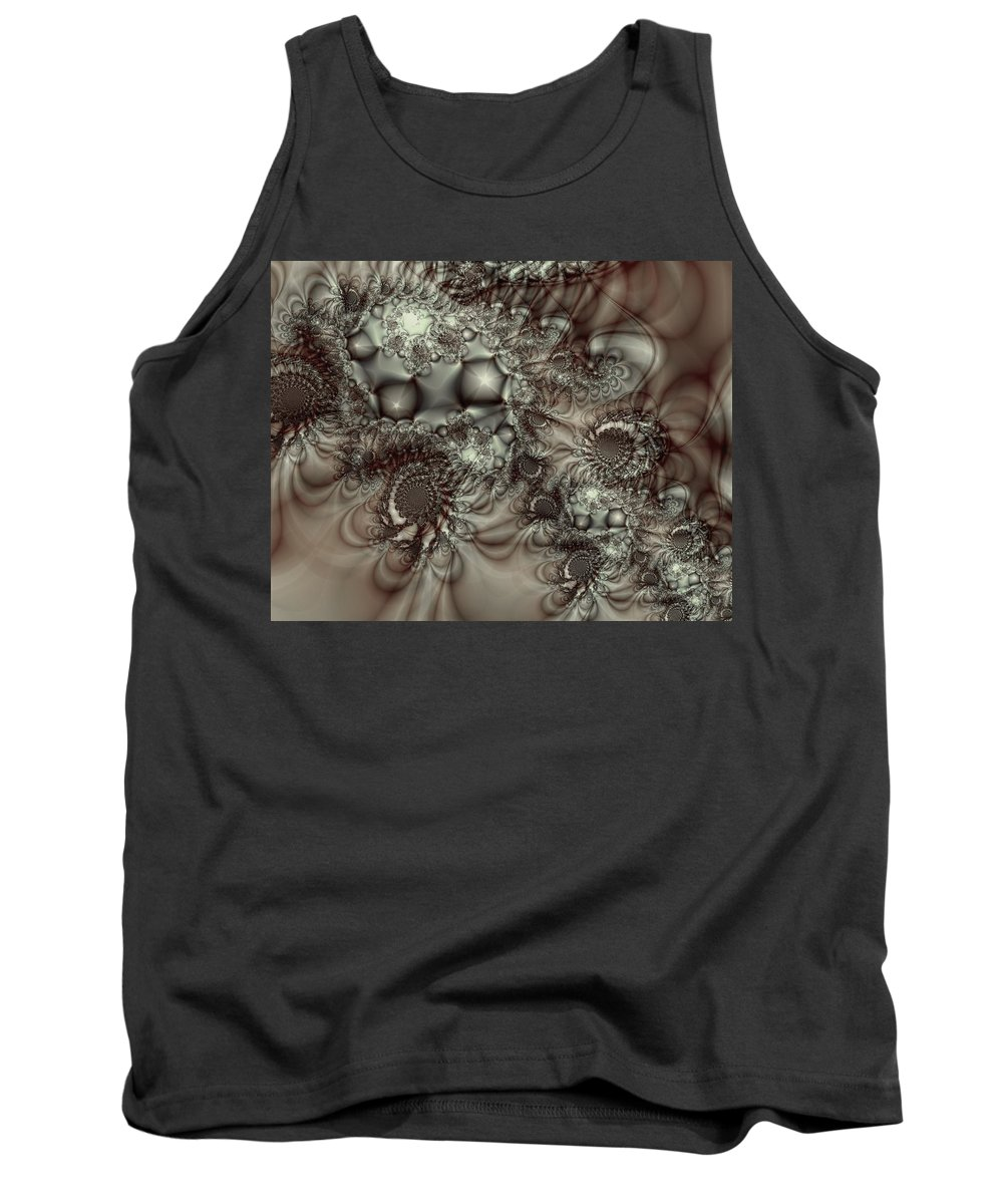 Green Tank Top featuring the digital art Hot Chocolate Possibilities by Casey Kotas