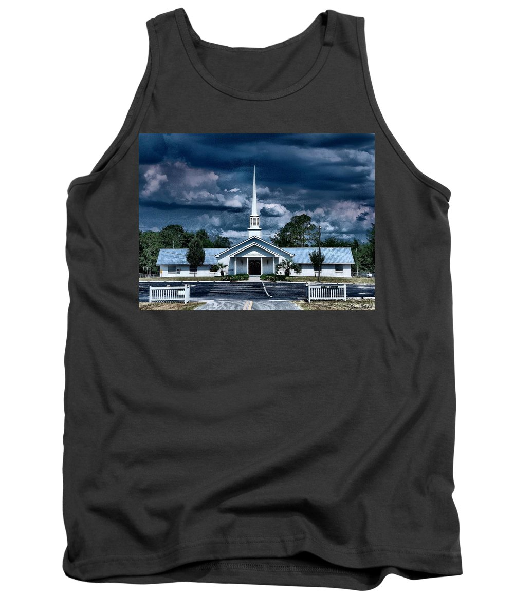 Church Tank Top featuring the photograph House Of Prayer by Gina Welch