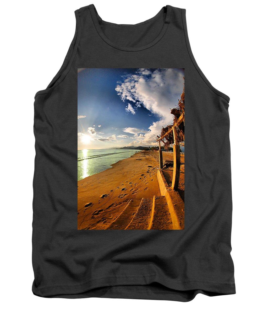 Beach Tank Top featuring the photograph Huequito Beach by Galeria Trompiz