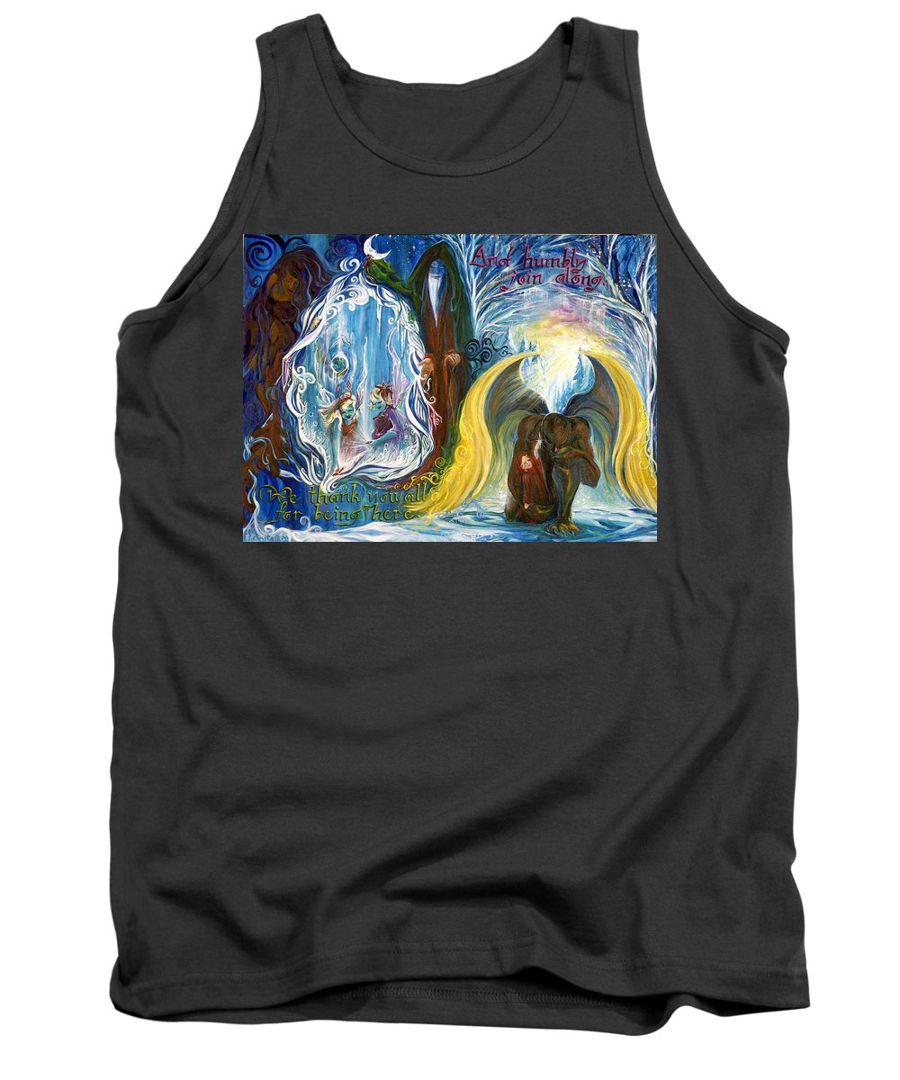 Reflections Tank Top featuring the painting Humbly Join Along... by Jennifer Christenson