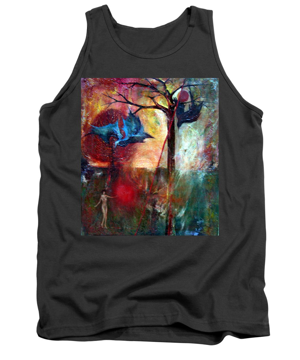 Colour Tank Top featuring the painting I Am Near You by Wojtek Kowalski
